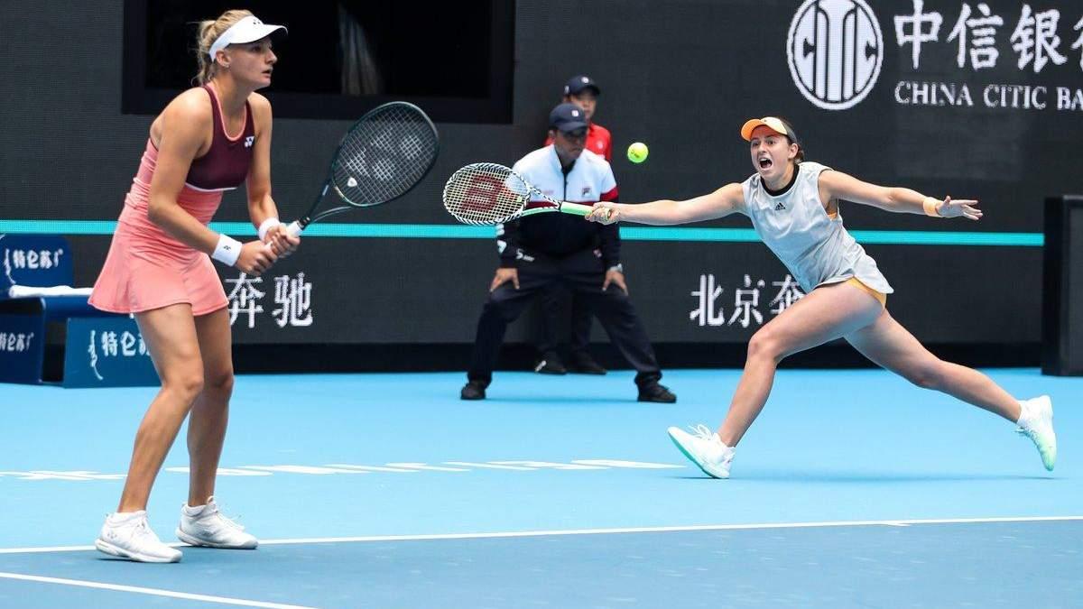 Ястремська у парі з Остапенко в драматичному матчі програла фінал у Пекіні