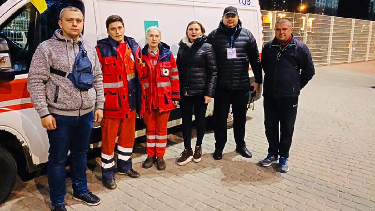 Медики на матчі Україна – Литва у Харкові