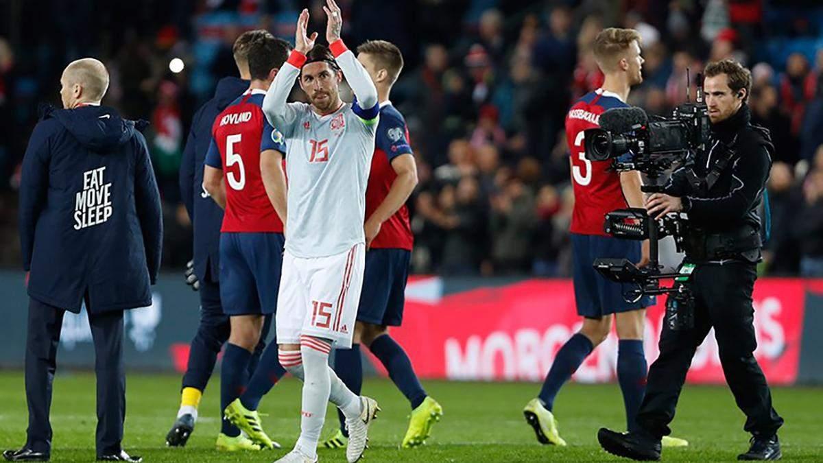 Сборная Испании опозорились в матче с Норвегией
