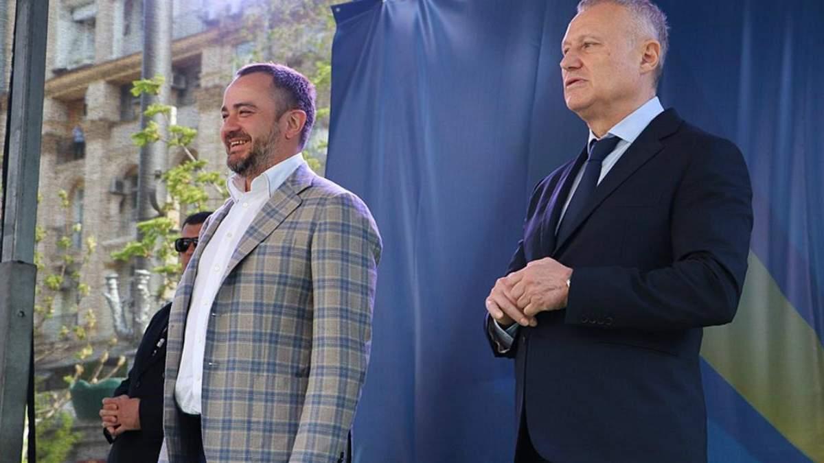 Андрей Павелко и Григорий Суркис