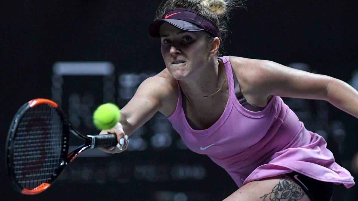 Свитолина второй год подряд вышла в финал Итогового турнира