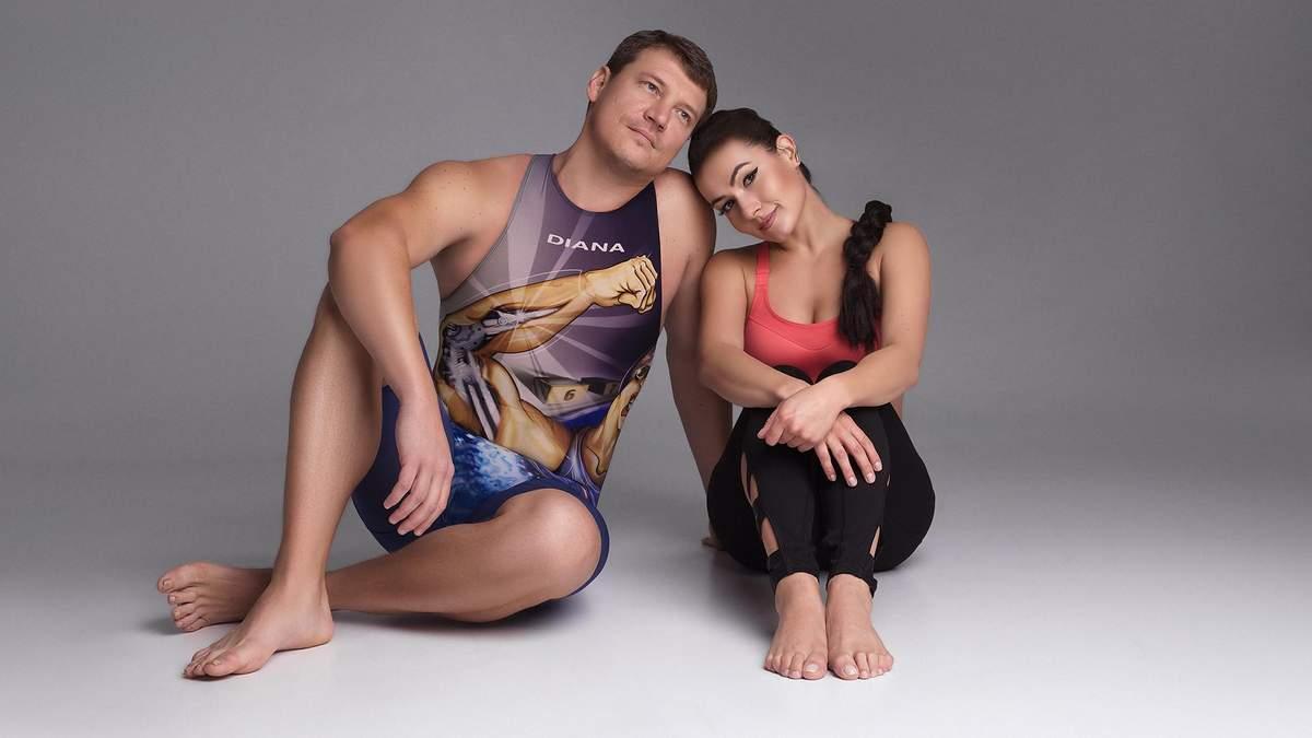 Гімнастка Надя Васіна і плавець Олег Лісогор святкують спортивний ювілей: ефектна фотосесія пари