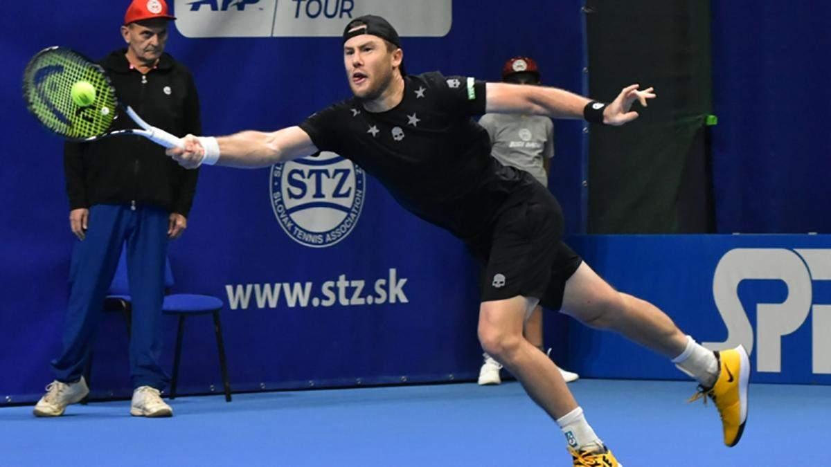 Украинские теннисисты Стаховский и Марченко зачехлили ракетки на турнире в Словакии