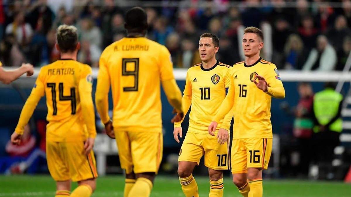 Сборная Бельгии сыграет против России и Дании