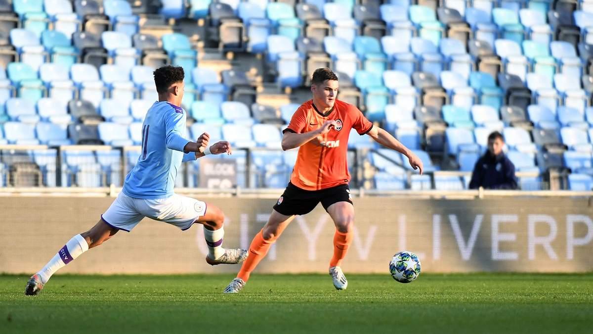 """""""Шахтар"""" зазнав принизливої поразки від """"Манчестер Сіті"""" в Юнацькій лізі УЄФА: відео"""