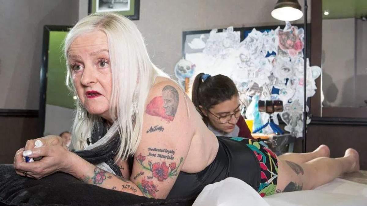 Английская болельщица сделала 38 татуировок, посвященных Моуринью: фото