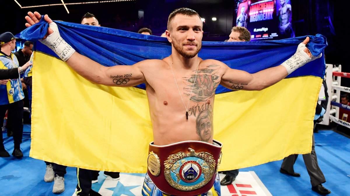 Ломаченко потрапив у п'ятірку найкращих боксерів світу за чотирма версіями
