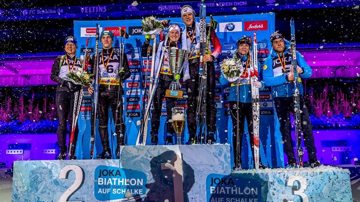 Українці Підручний та Меркушина посіли друге місце на Різдвяній гонці з біатлону: результати