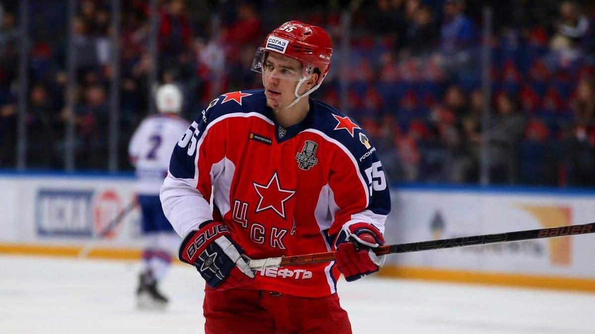 Российского хоккеиста дисквалифицировали на чемпионате мира за недостойное поведение: видео