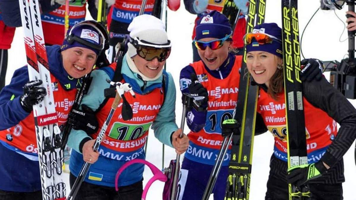 Женская сборная Украины завоевала 6-е место в эстафете, Экхофф вырвала победу для Норвегии