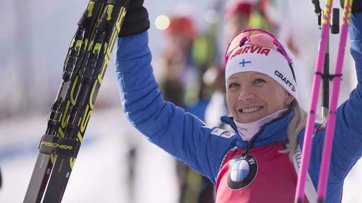 37-летняя Мякяряйнен выиграла масс-старт, Пидгрушная только 18-я