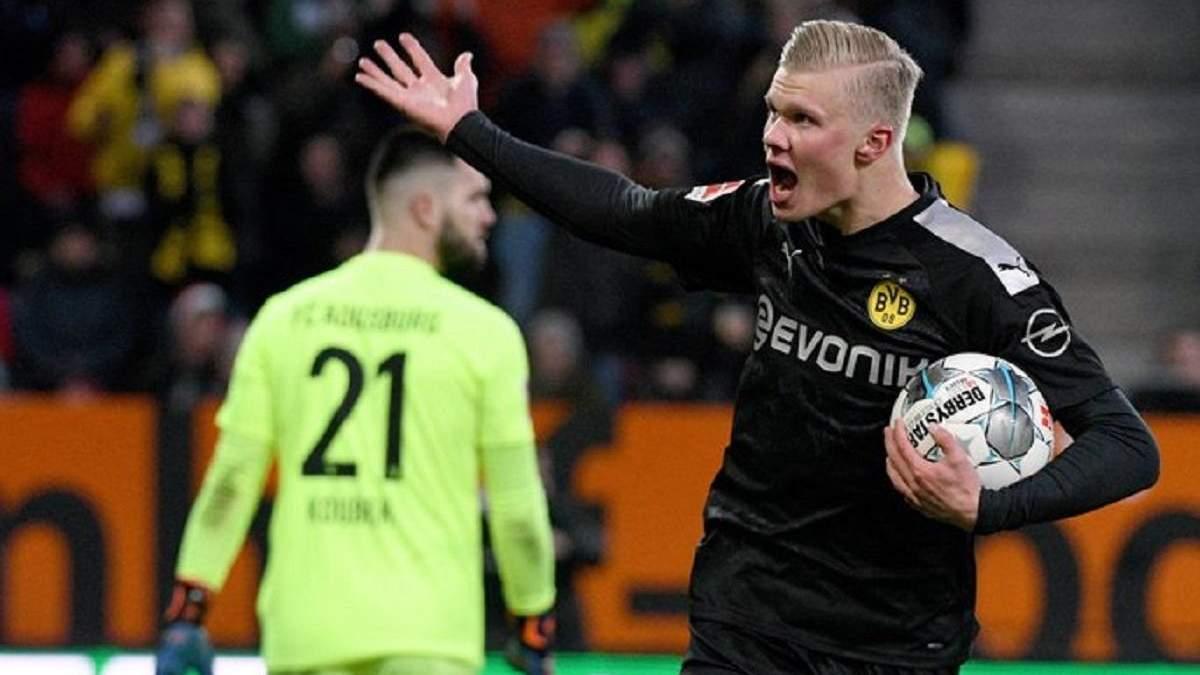 """19-річний Холанд забив три голи за 20 хвилин в дебютному матчі за """"Боруссію"""": відео"""