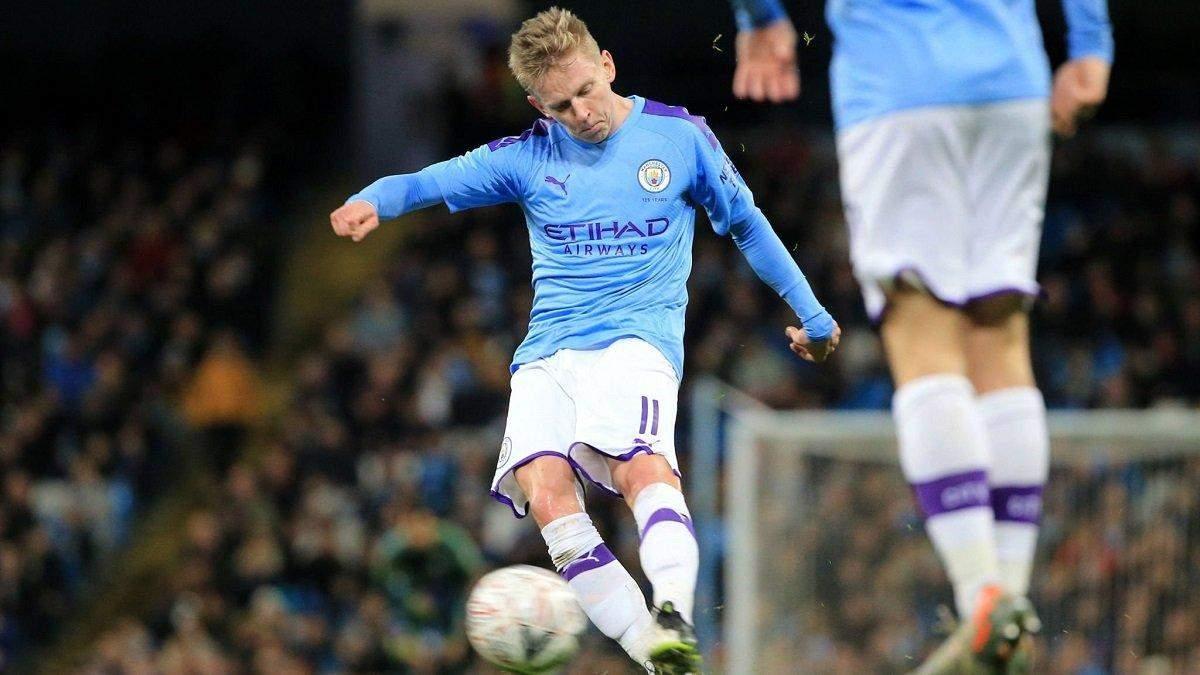 """Зінченко вперше у 2020 році вийде у стартовому складі """"Манчестер Сіті"""" на матч АПЛ"""