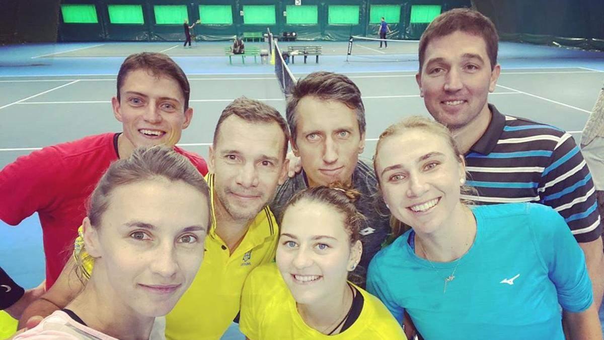 Шевченко та зірки українського тенісу