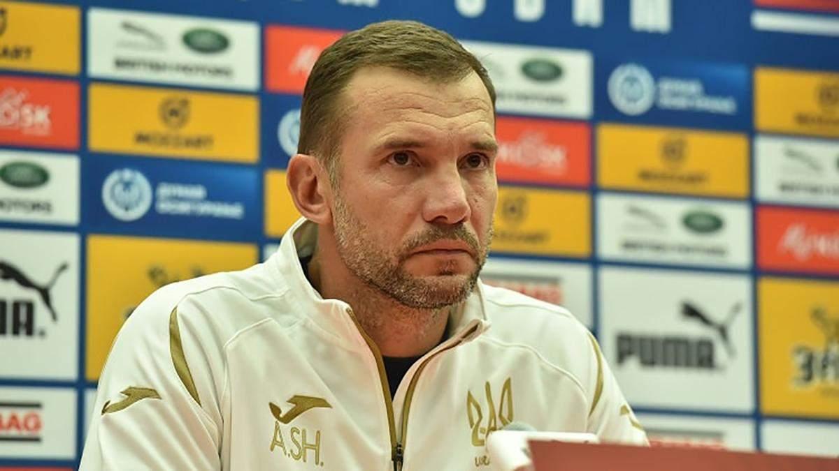 Шевченко розповів, як вибиратиме склад збірної України на матчі проти Франції та Польщі