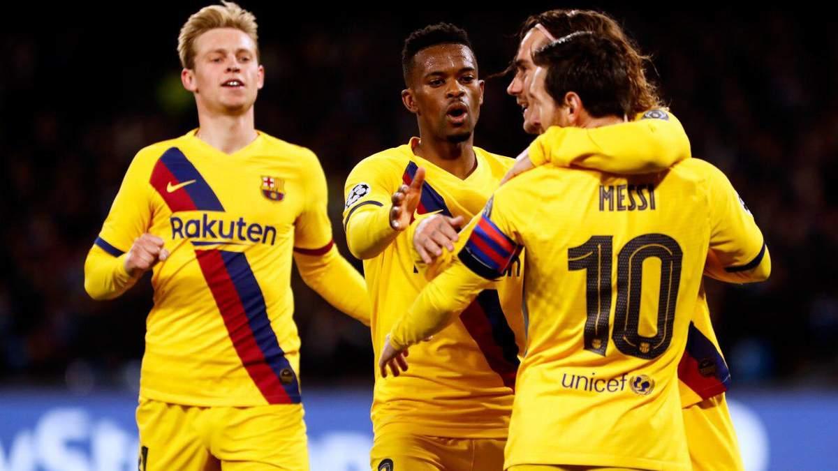 """""""Наполі"""" та """"Барселона"""" зіграли внічию, """"синьо-гранатові"""" догравали матч в меншості – відео"""