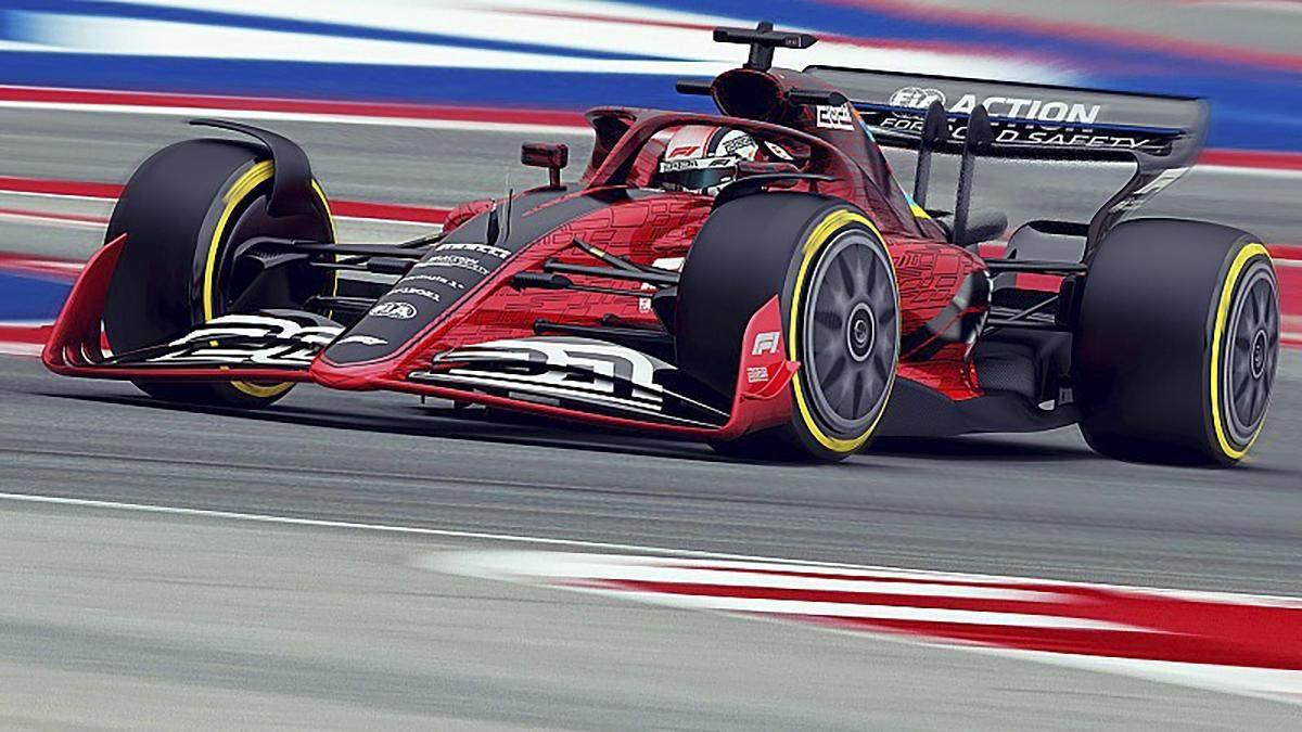 Образец болида Формулы-1 в соответствии с новым регламентом