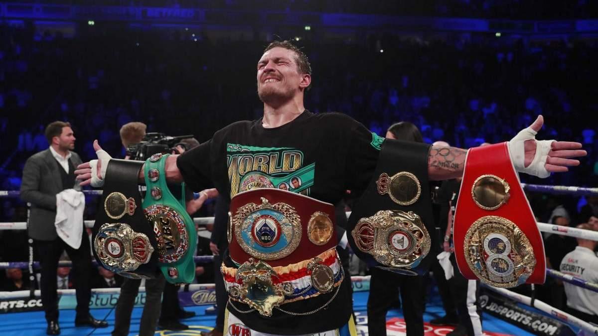 Усик хоче битися з найкращими боксерами суперважкої ваги – амбіційна заява українця