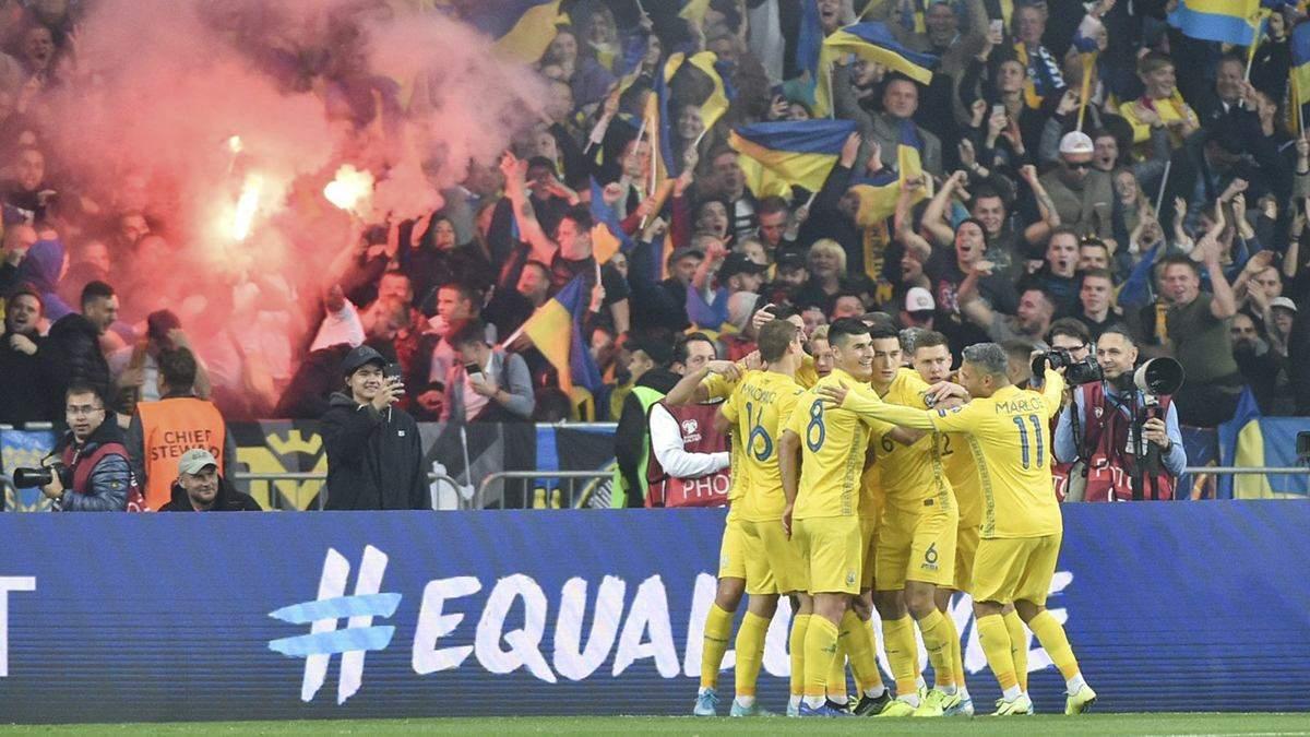Футболисты сборной Украины получили рекордную премию за выход на Евро-2020