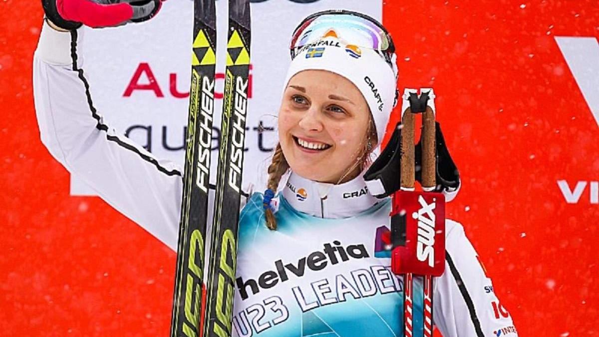 Олимпийская чемпионка по лыжным гонкам потренировалась в компании медведя