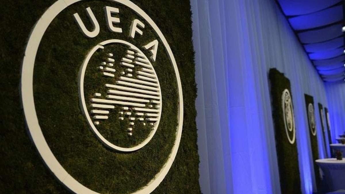 УЕФА проведет заседание из-за остановки европейских лиг