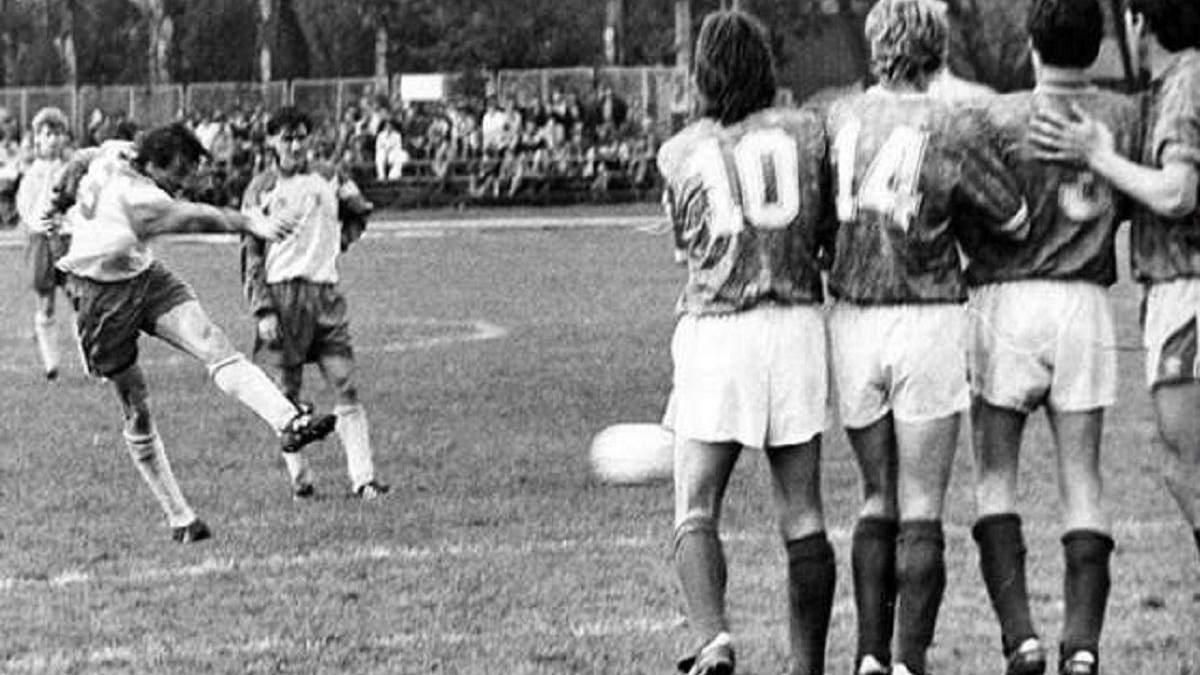 Первый матч в истории сборной Украины по футболу