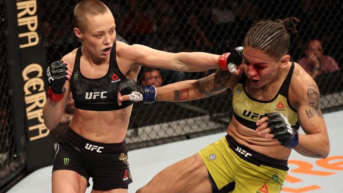 Закривавлене обличчя чемпіонки, технічний нокаут та захист титулу: відео вражаючих боїв UFC