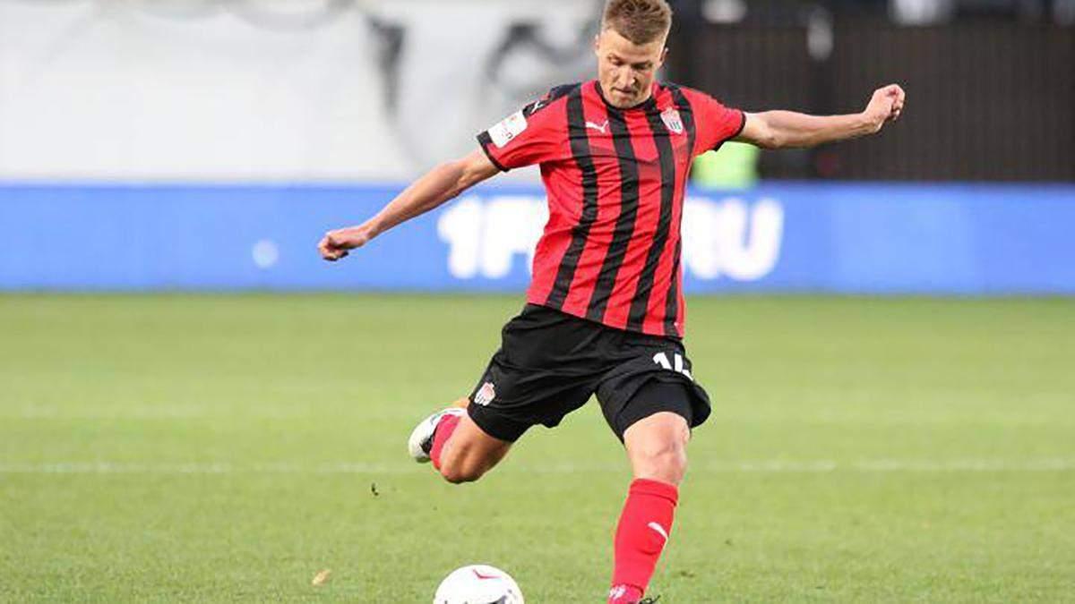 Український футболіст Полярус став найкращим гравцем російського чемпіонату