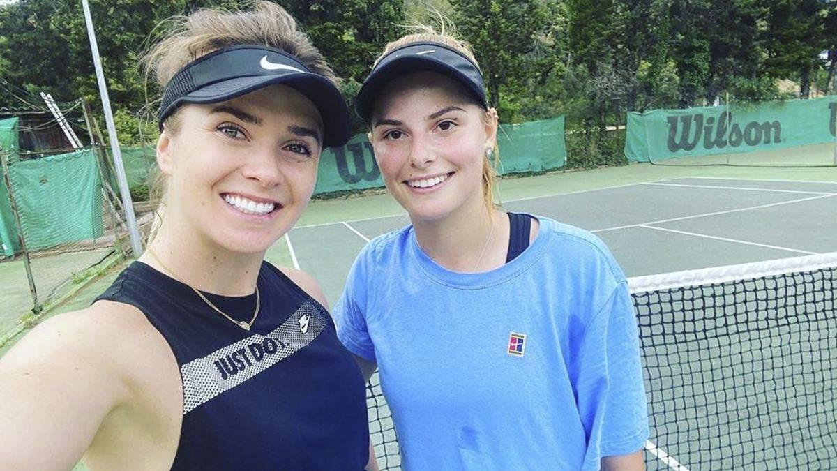 Катаріна Завацька та Еліна Світоліна