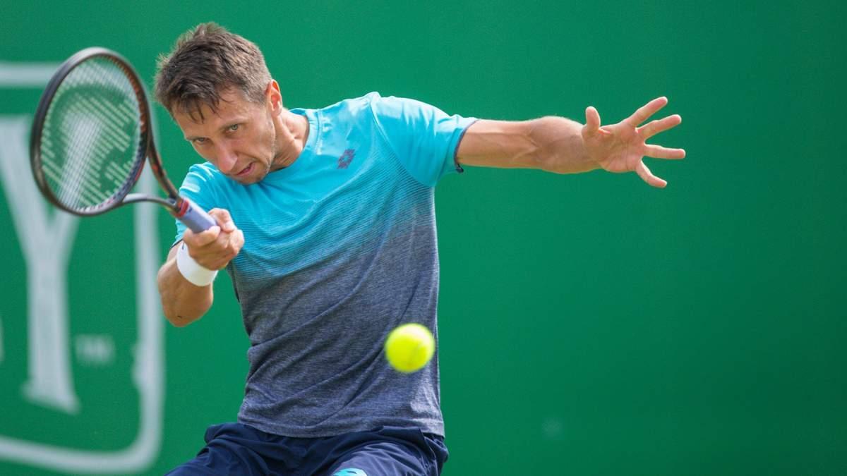Лучший теннисист Украины Стаховский сенсационно потерпел фиаско в Праге
