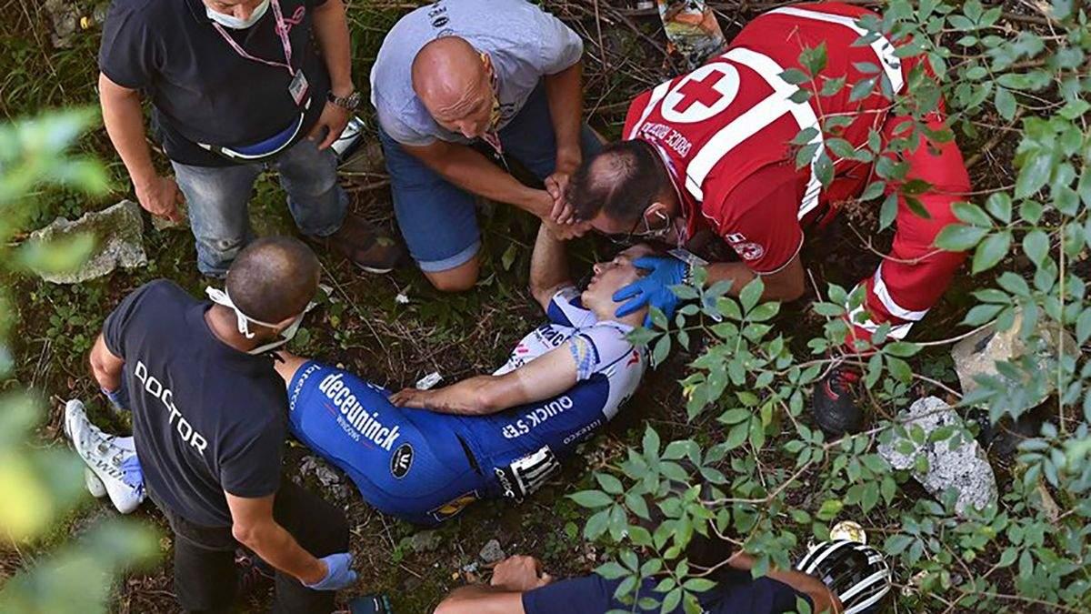 Спортсмен попал в аварию