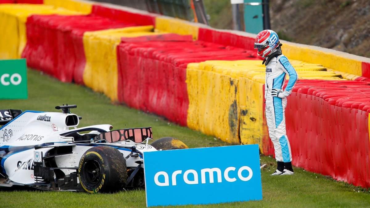Формула-1: Расселл и Джовинацци попали в тяжелую аварию на гран-при Бельгии – видео