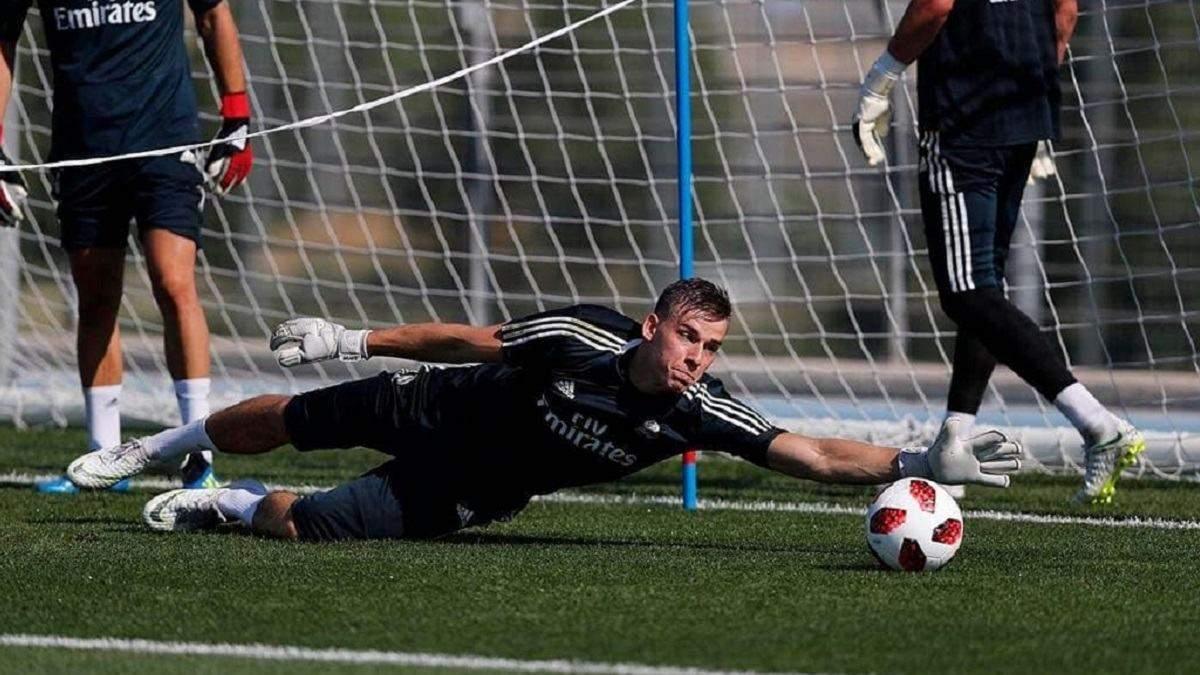 Андрій Лунін вже тренується у Мадриді