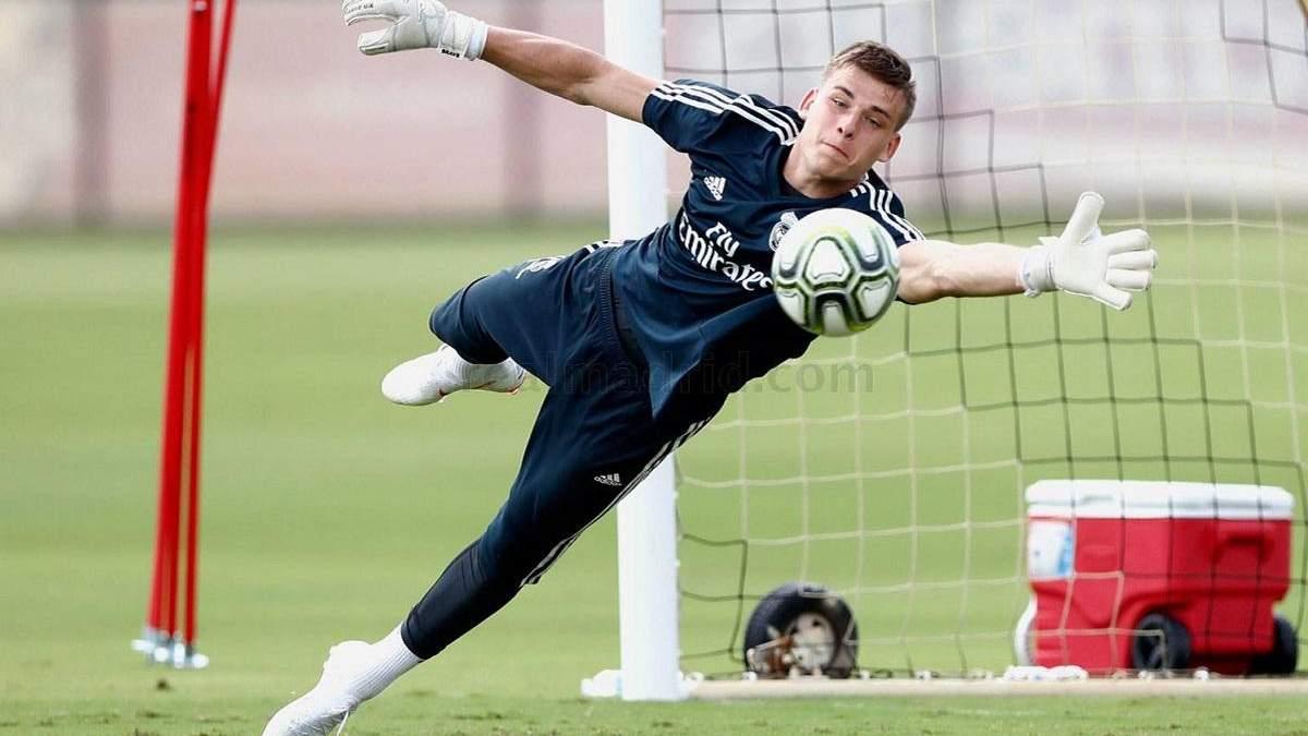 """Лунін блиску провів перше тренування після повернення у """"Реал"""""""