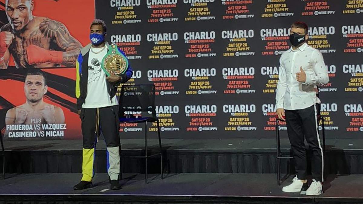 Чарло – Дерев'янченко: боксери зійшлися у першій дуелі поглядів – відео