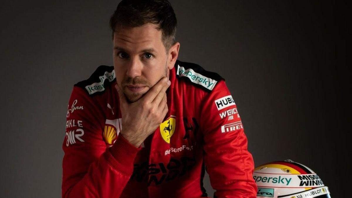 На честь Шумахера: пілот Ferrari Феттель представив шолом для гран-прі Айфеля – фото