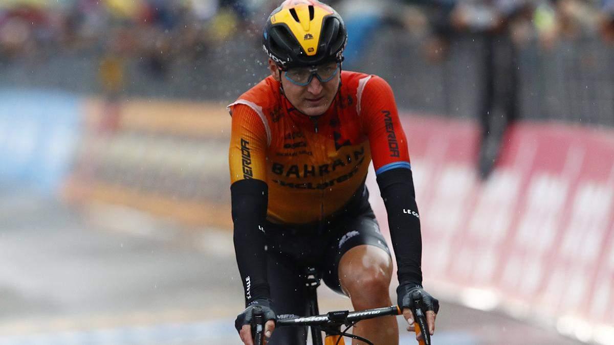 Український велогонщик Падун драматично втратив перемогу на Джиро д'Італія
