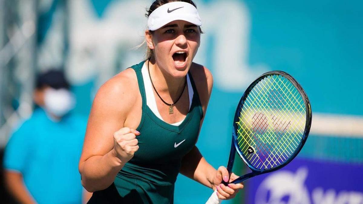 Марта Костюк програла перший сет 0:6, але перемогла та вийшла у півфінал турніру в Абу-Дабі