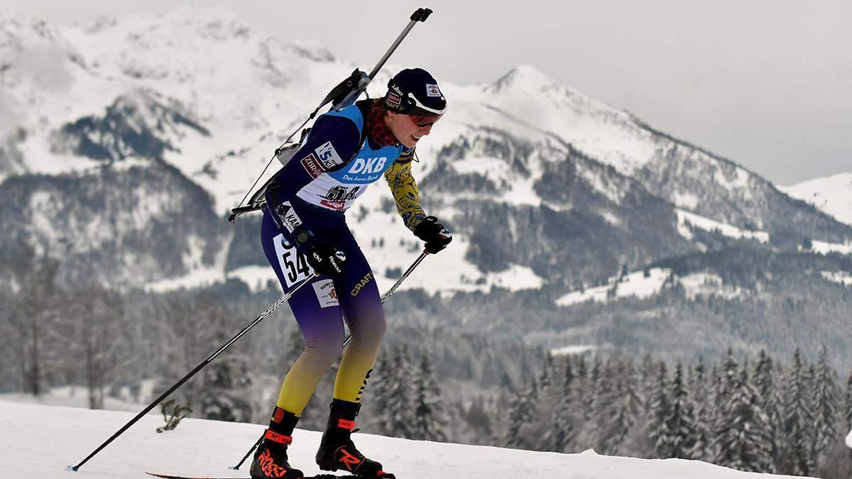 Біатлоністка Дар'я Блашко пропустила спринт в Оберхофі 14.01.2021