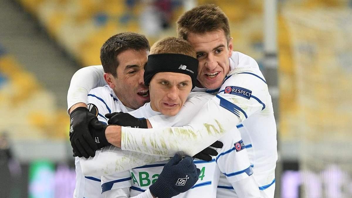 Динамо сыграло вничью с Брюгге в первом матче 1/16 финала Лиги Европы: видео