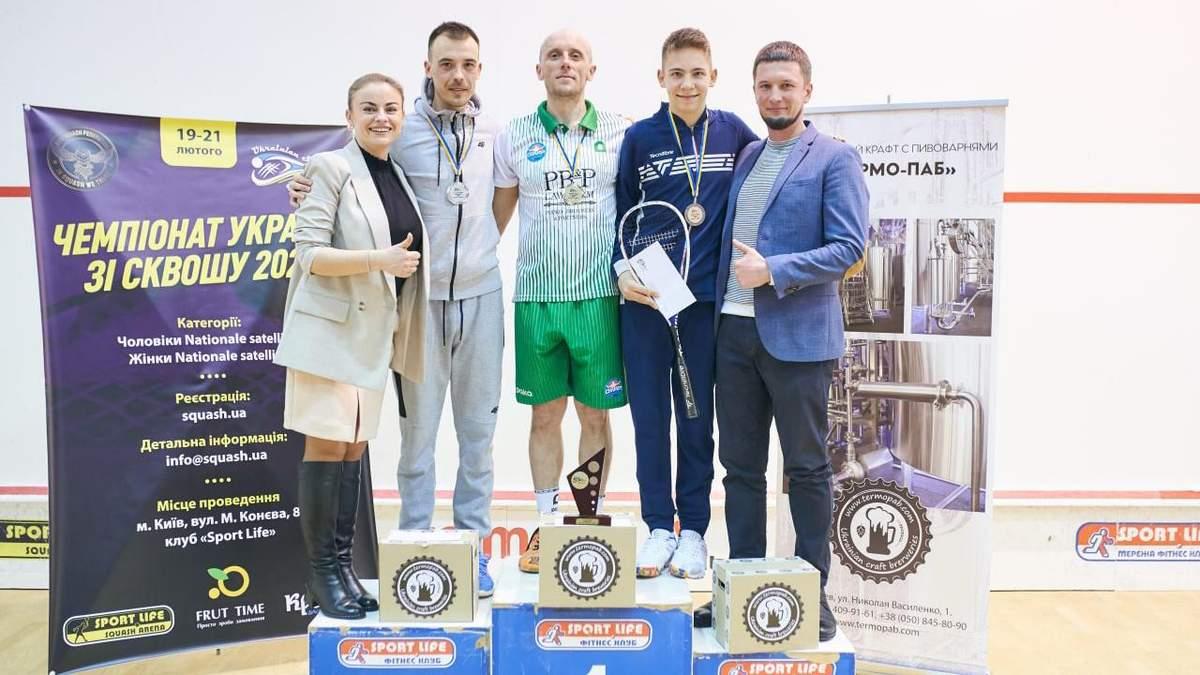 Визначено переможців Чемпіонату України зі сквошу