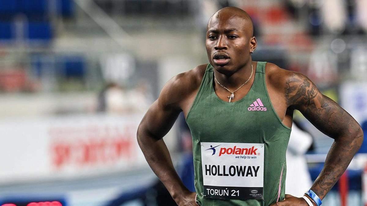 Американский бегун Холлоуэй установил мировой рекорд на дистанции в 60 метров: видео