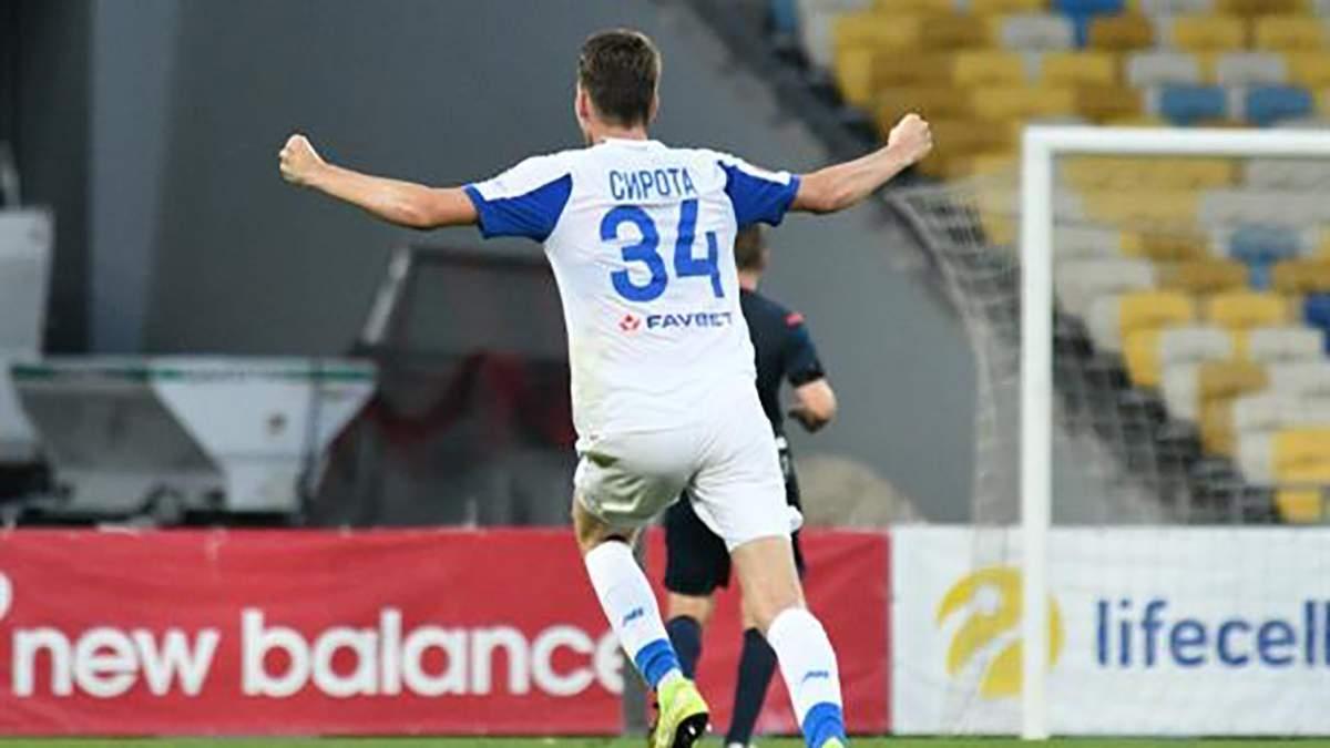 Захисник Динамо Сирота потрапив до збірної тижня в Лізі Європи