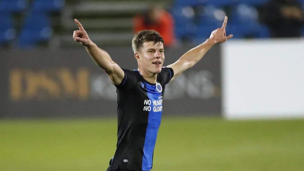 Соболь забив дебютний гол за Брюгге: відео