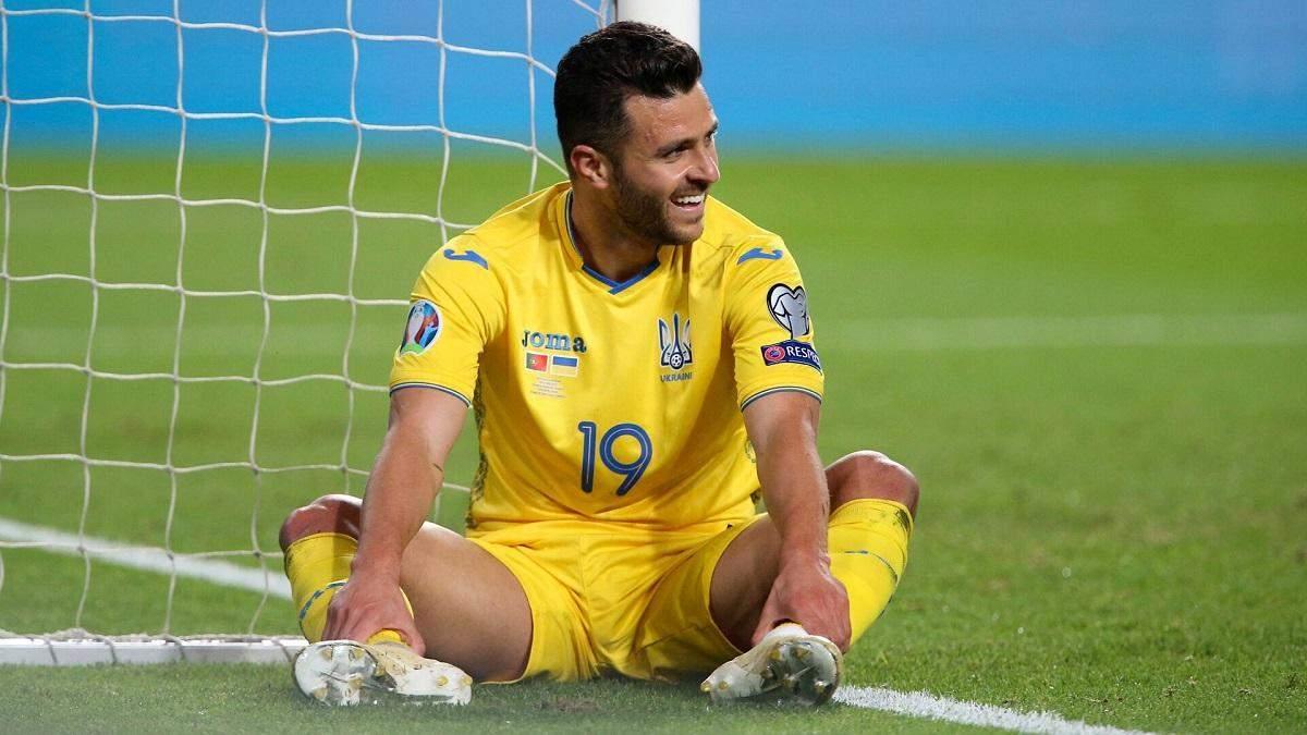 Мораес українською мовою відзначив дебютний гол за збірну Шевченка
