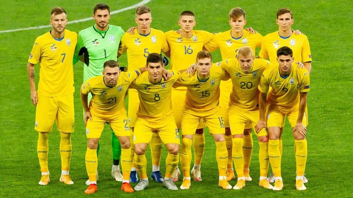 Сборная Украины осталась в топ-25 рейтинга ФИФА