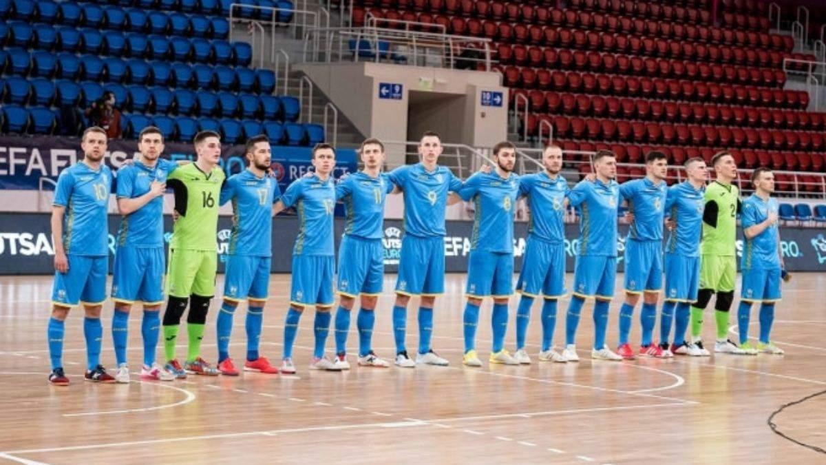 УЕФА отменила матч сборной Украины на футзальное Евро-2022