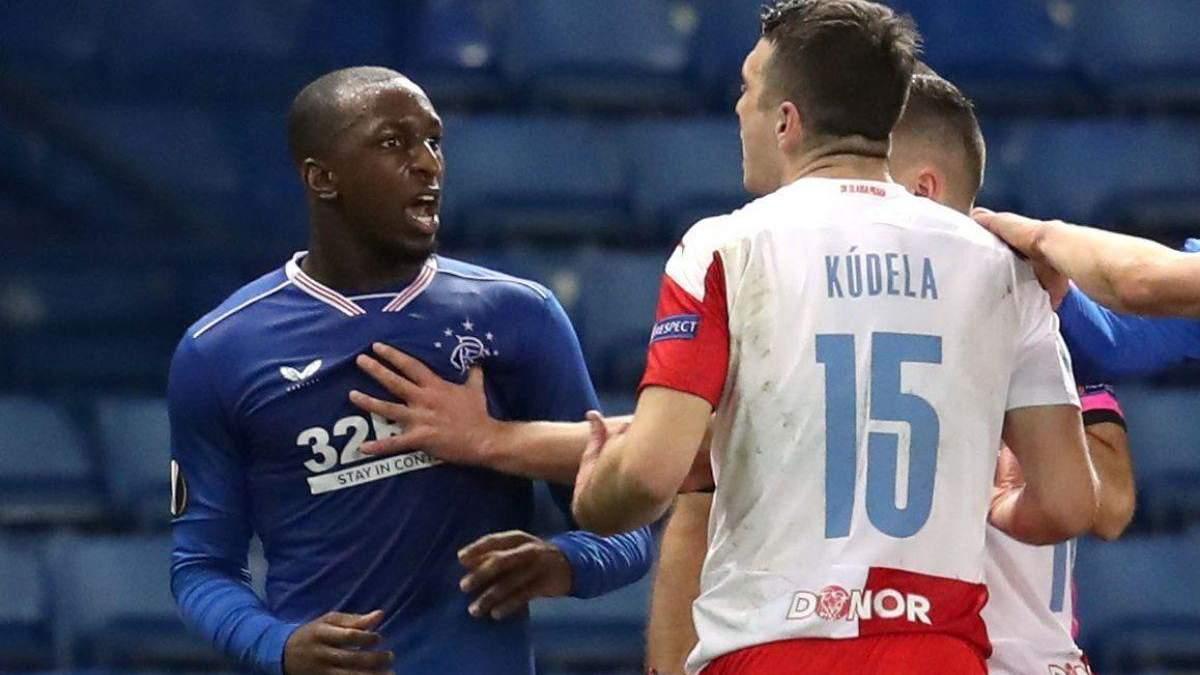 УЄФА дискваліфікував гравця Славії на 10 матчів за расизм
