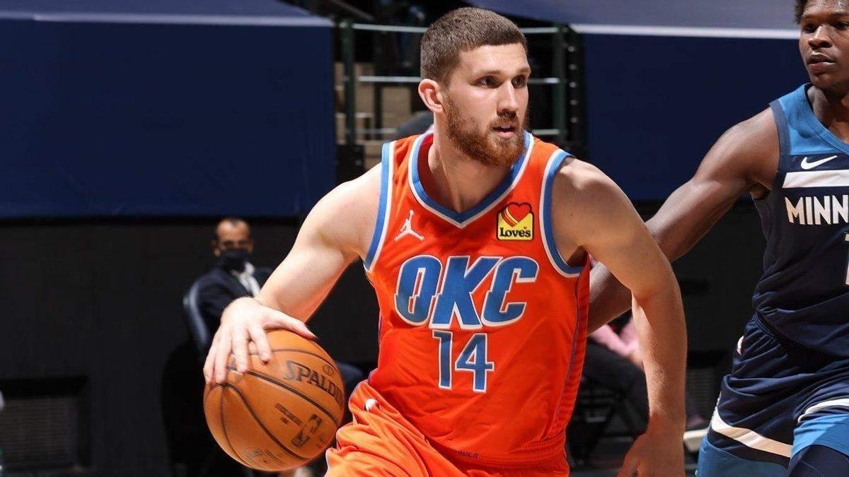 Михайлюк помог Оклахоме прервать 14-матчевую серию из поражений в сезоне НБА: видео