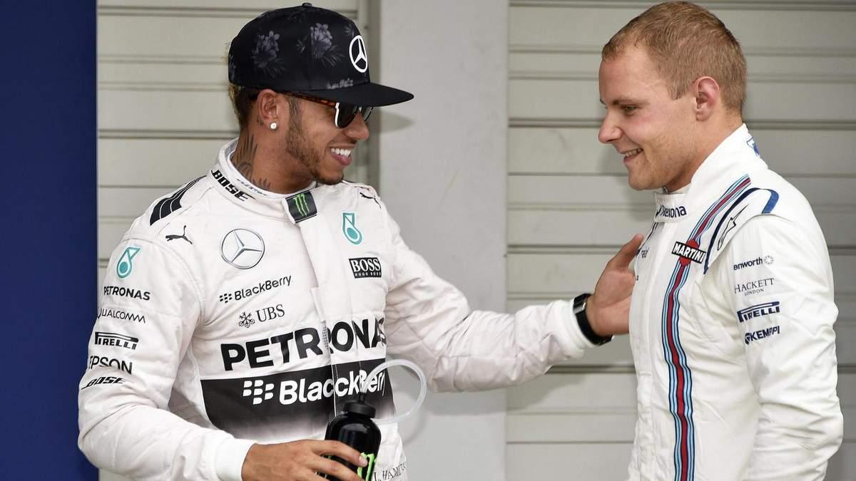 Формула-1: Боттас выиграл поул гран-при Португалии, опередив Хэмилтона на 0,007 секунды